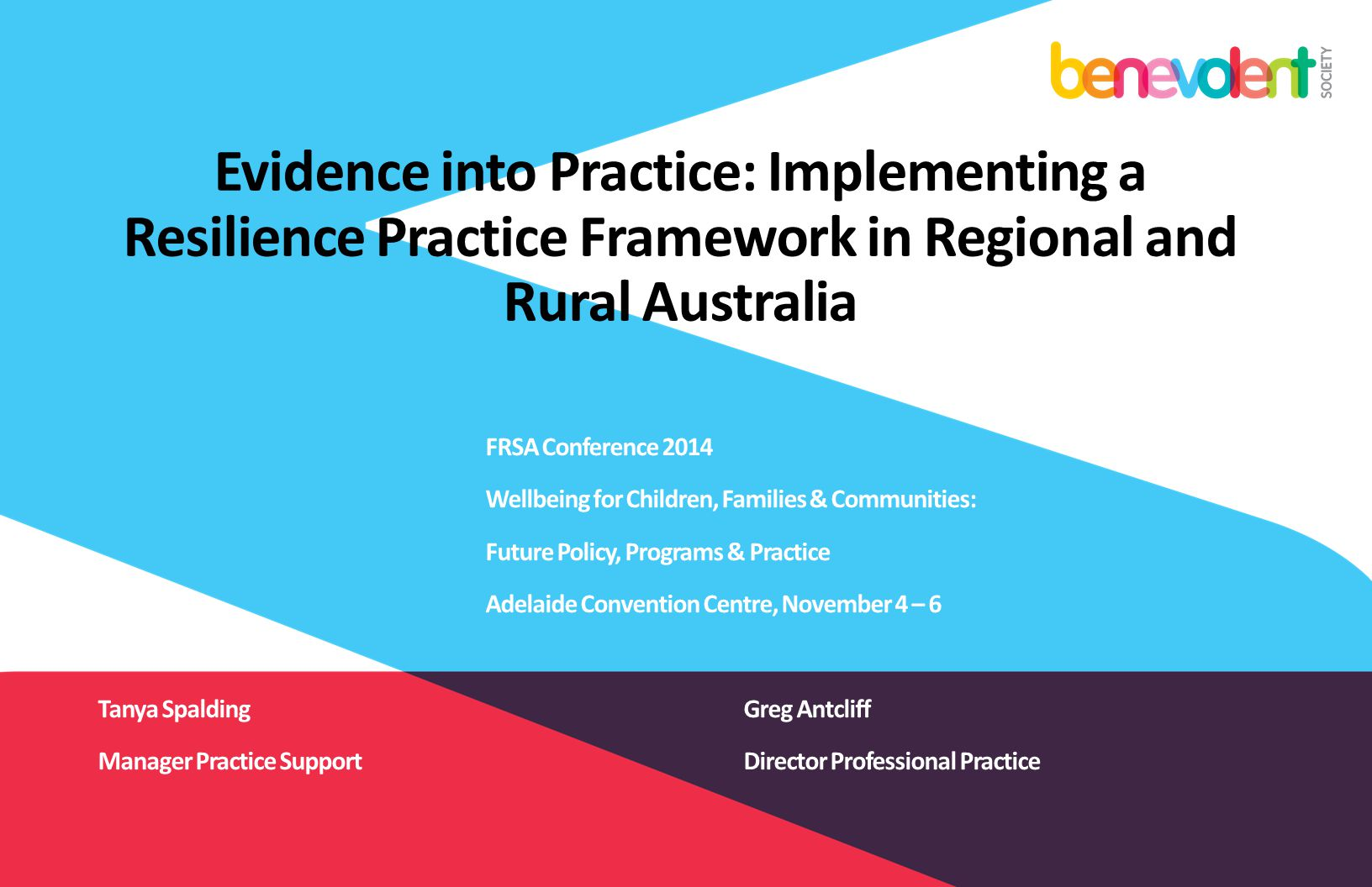 Evidence into Practice: Implementing a Resilience Practice Framework in Regional and Rural Australia