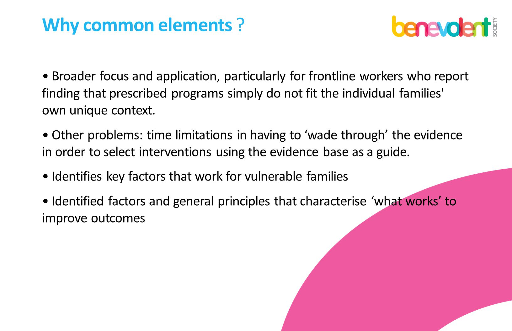 Why common elements