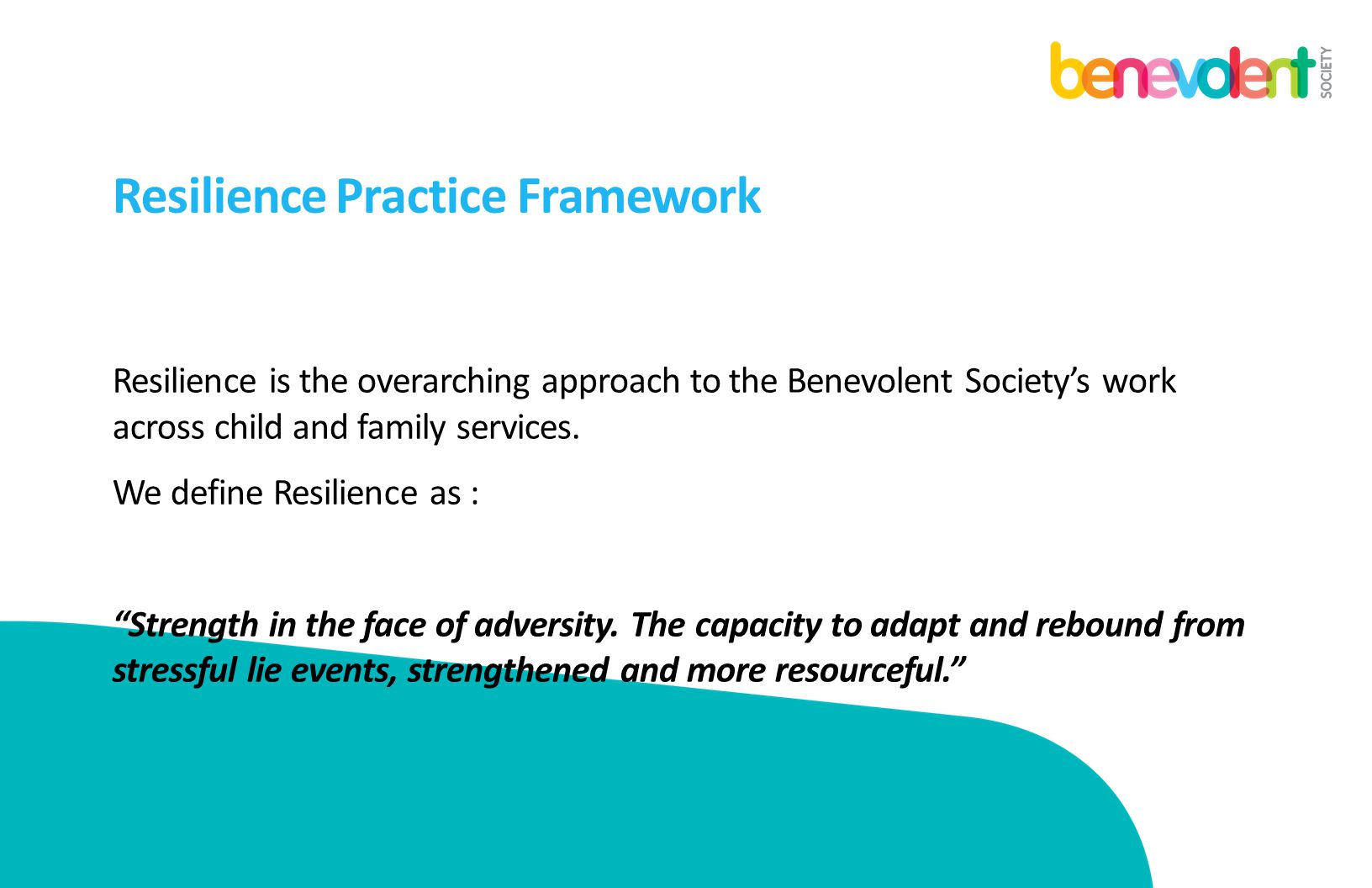 Resilience Practice Framework