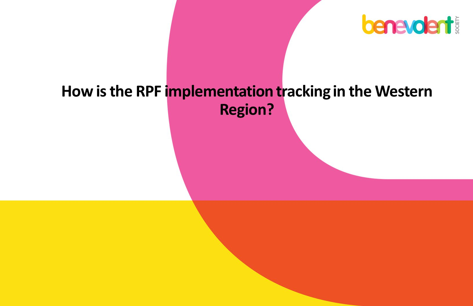 How is the RPF implementation tracking in the Western Region