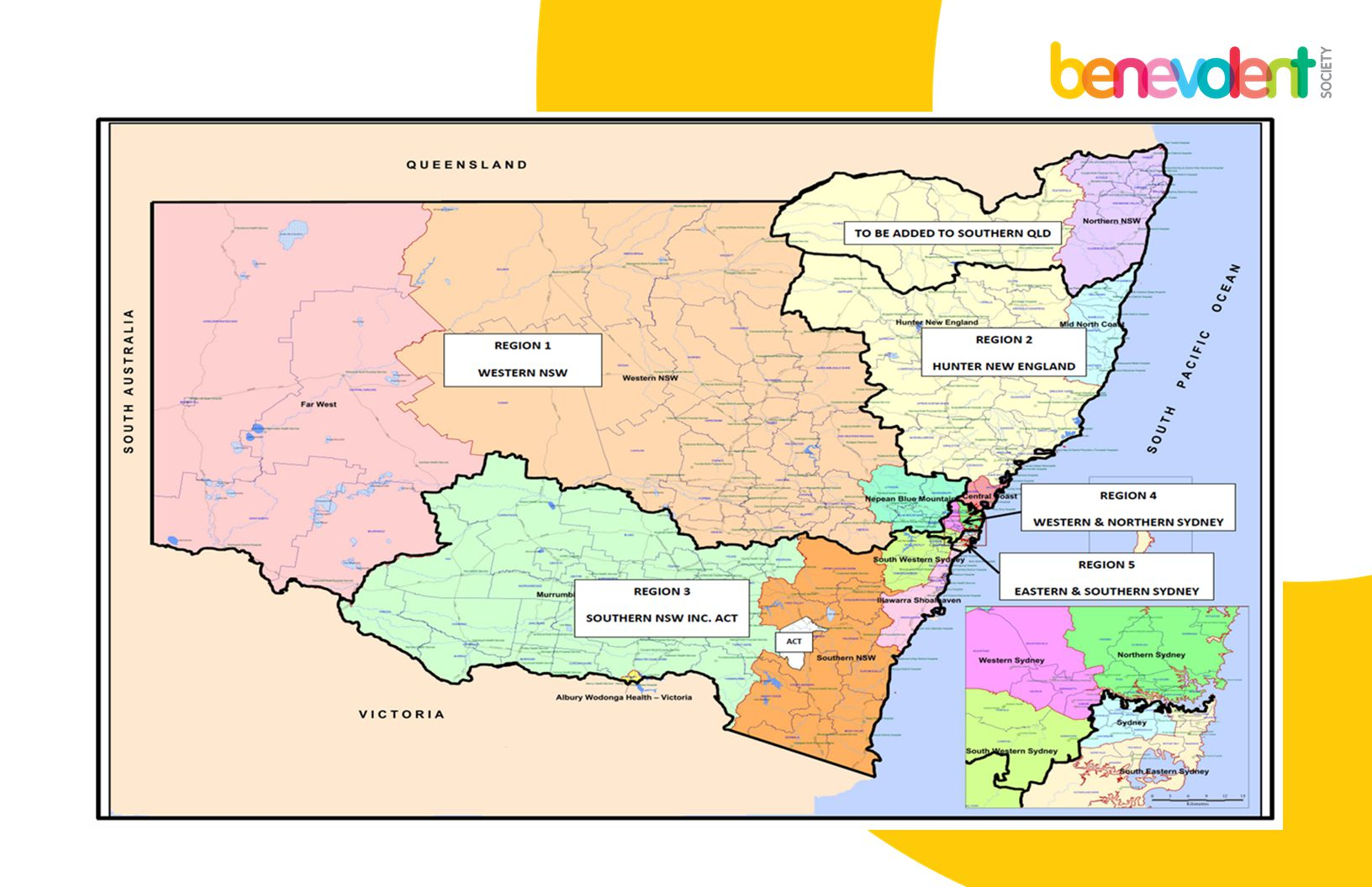 Our Regions are based on NSW Health Districts