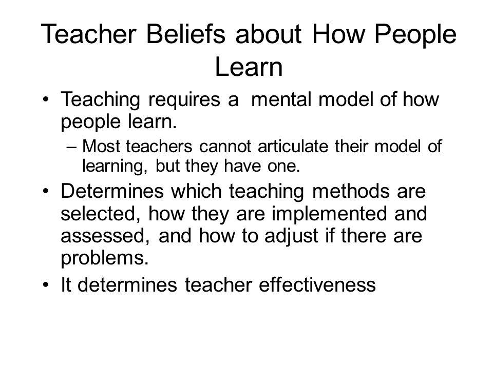 Teacher Beliefs about How People Learn