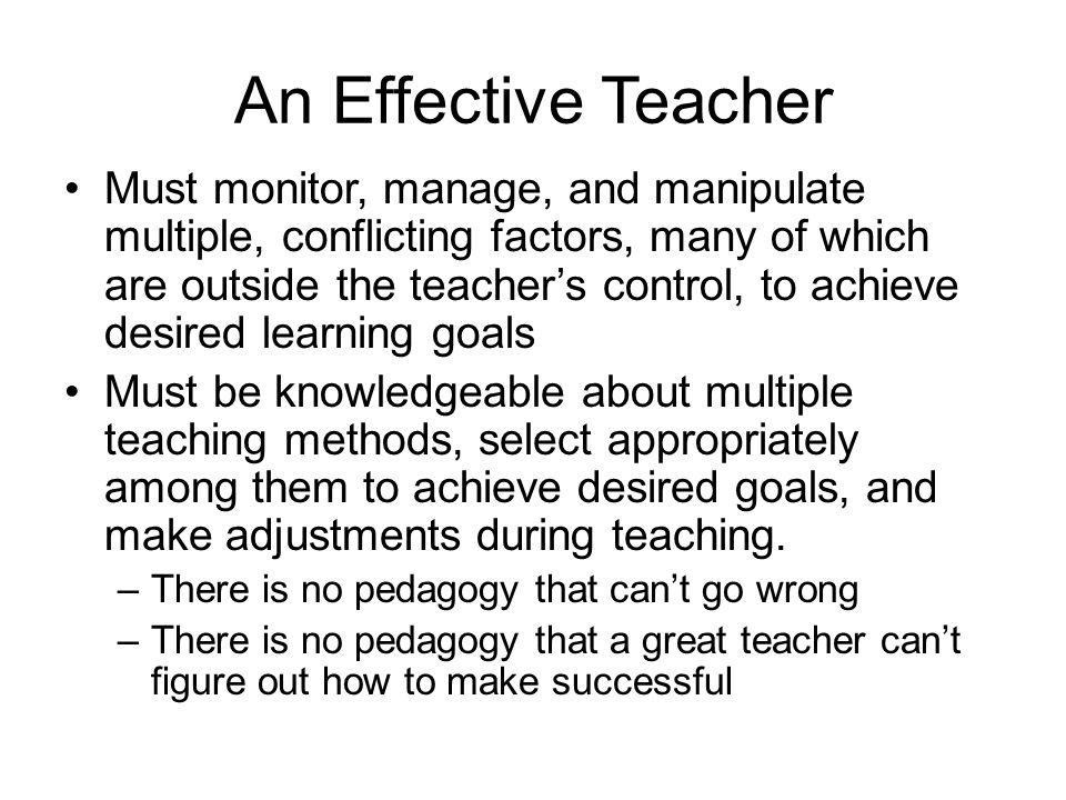 An Effective Teacher