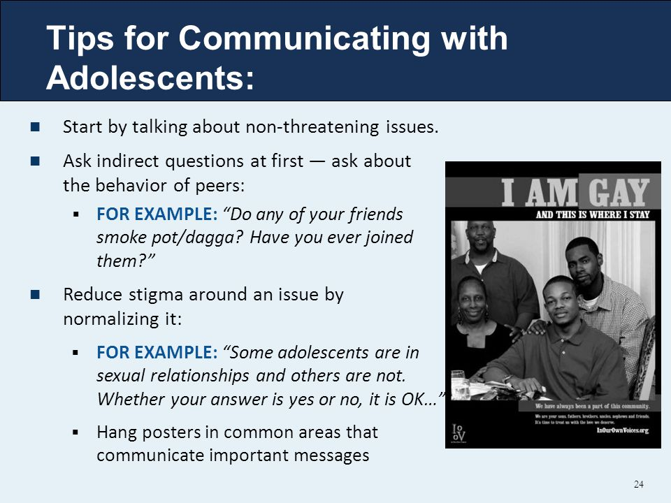 Tips for Communicating with Adolescents: