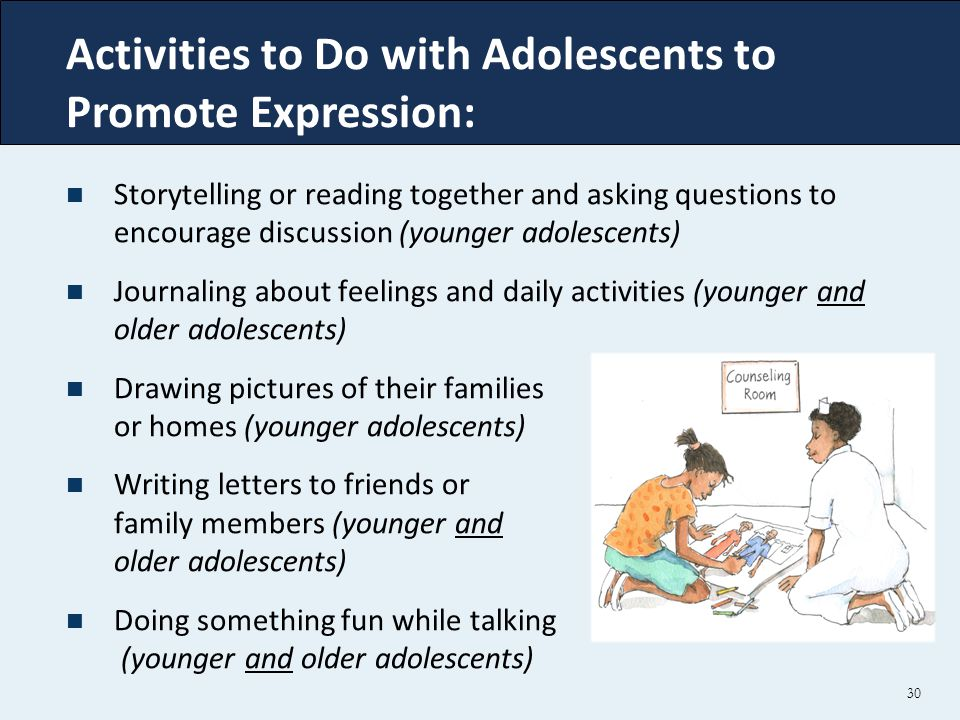 Activities to Do with Adolescents to Promote Expression: