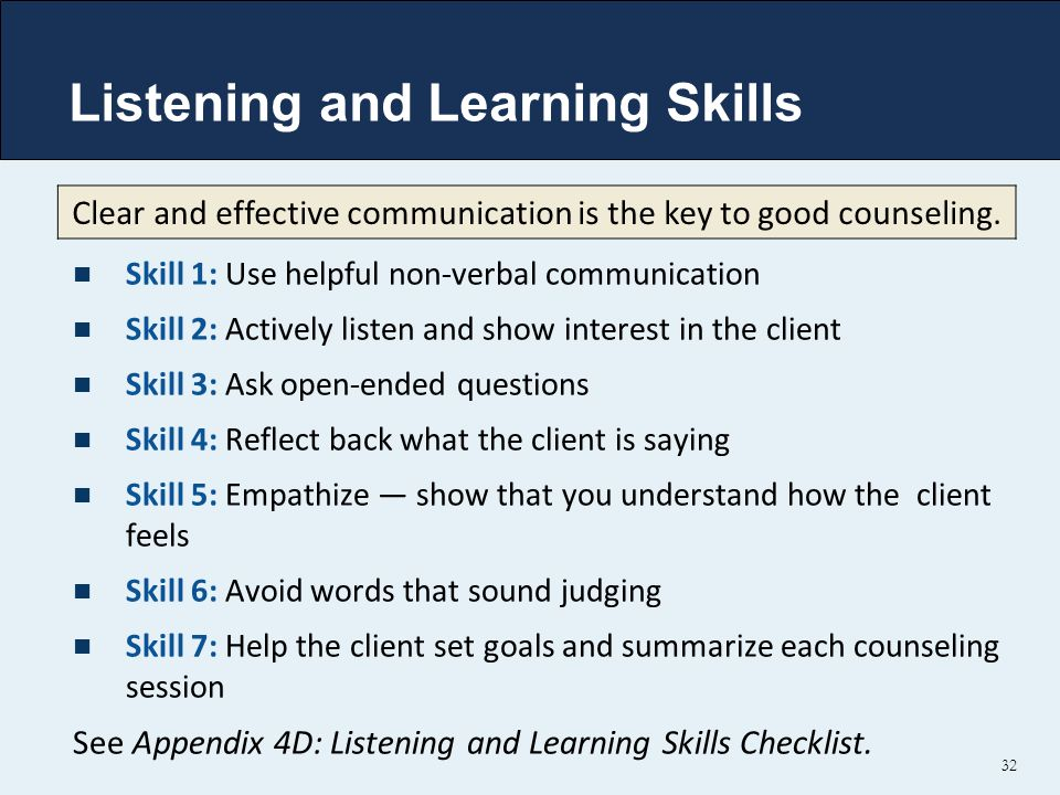Listening and Learning Skills