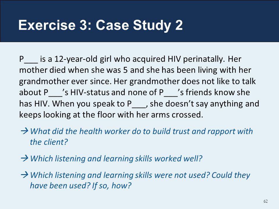 Exercise 3: Case Study 2