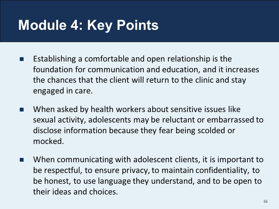 Module 4: Key Points