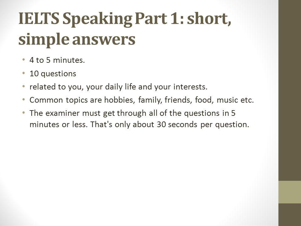 IELTS speaking with Mysheo - ppt video online download