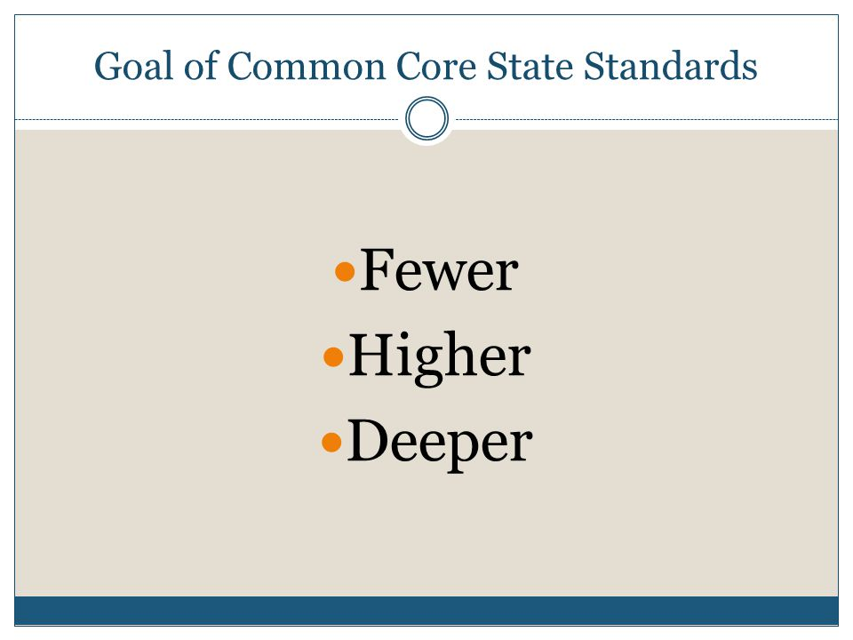 Goal of Common Core State Standards