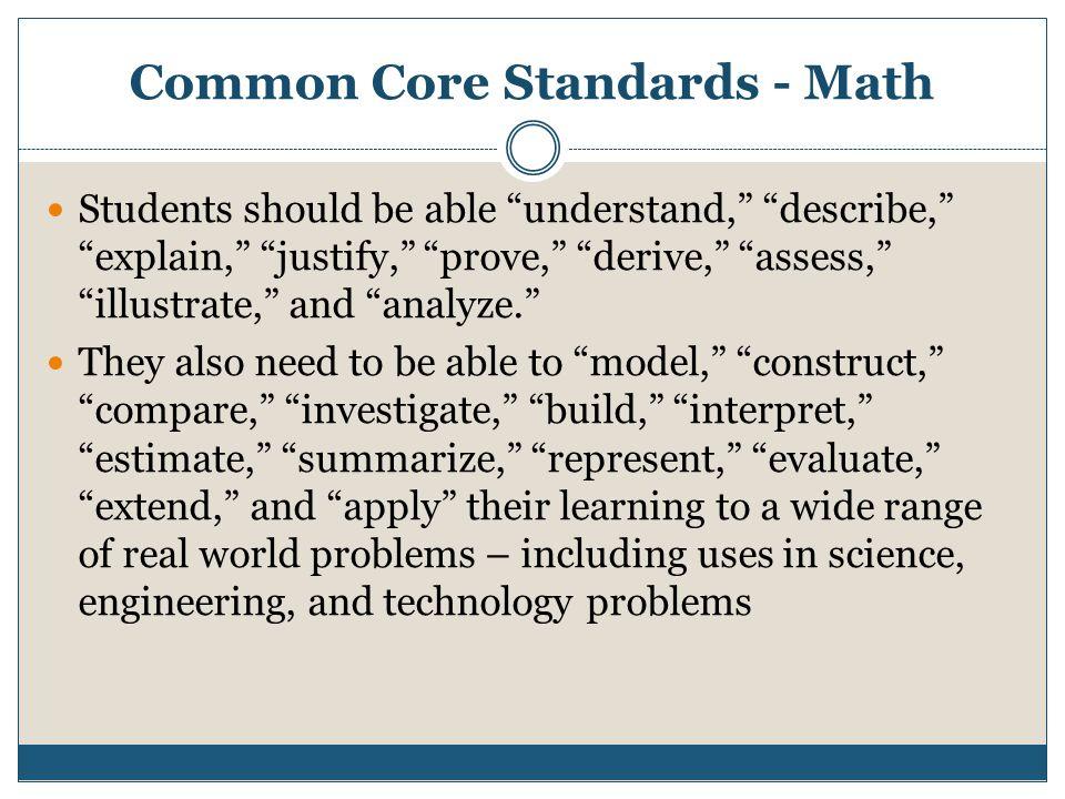 Common Core Standards - Math