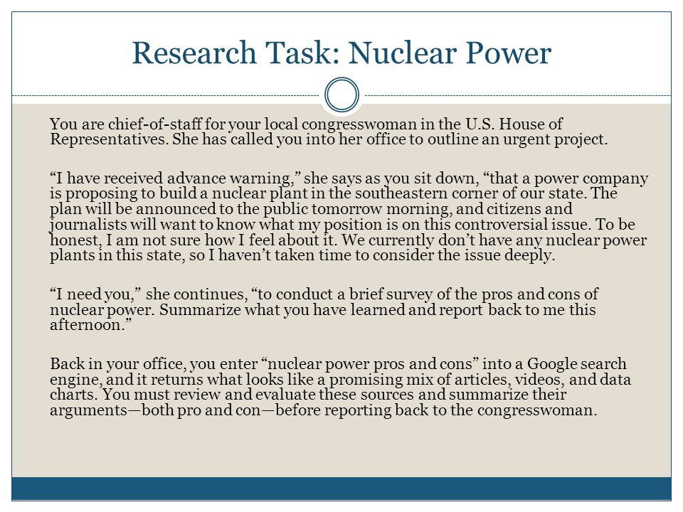 Research Task: Nuclear Power