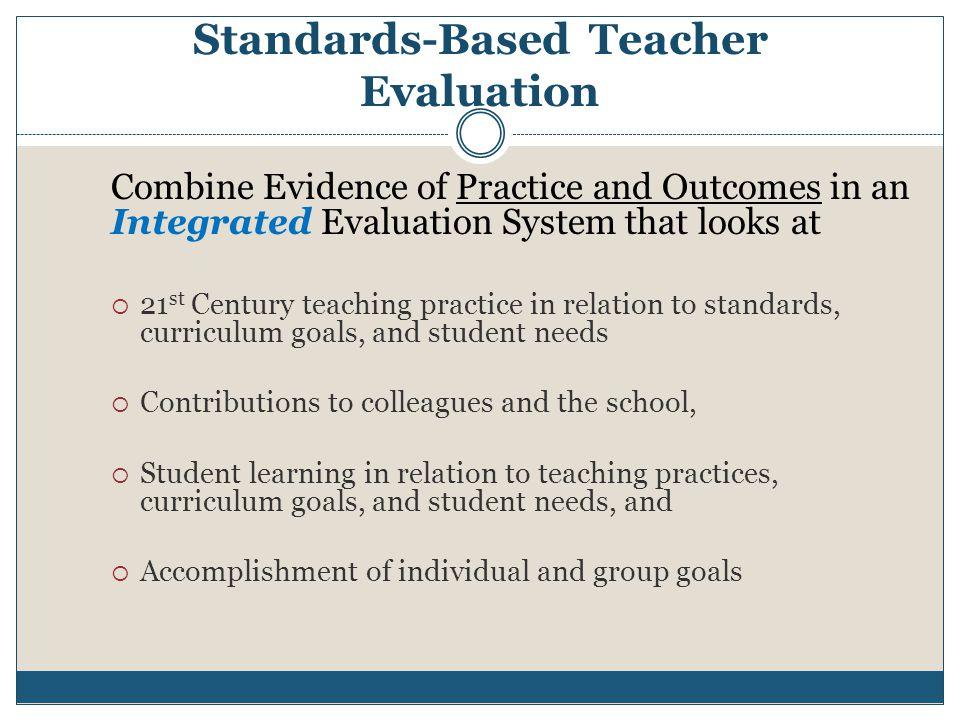 Standards-Based Teacher Evaluation