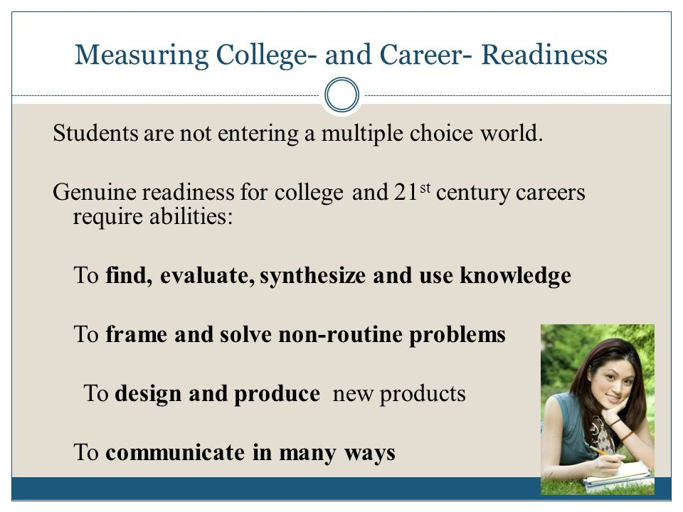 Measuring College- and Career- Readiness