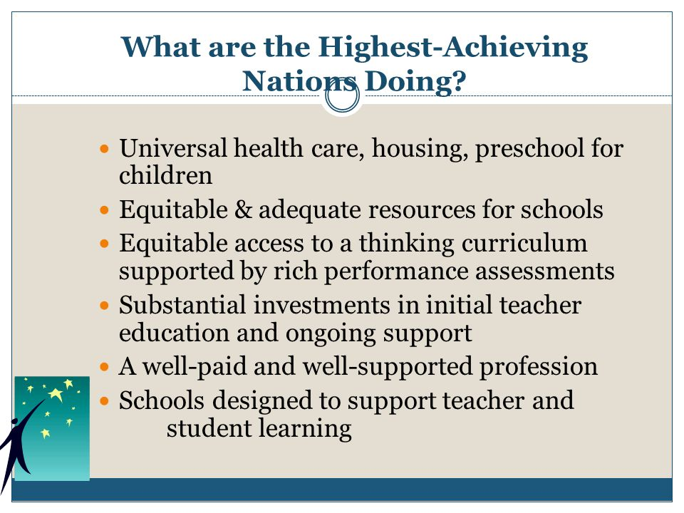 What are the Highest-Achieving Nations Doing