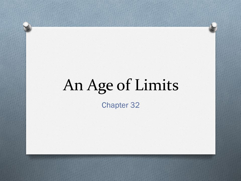 An Age of Limits Chapter 32