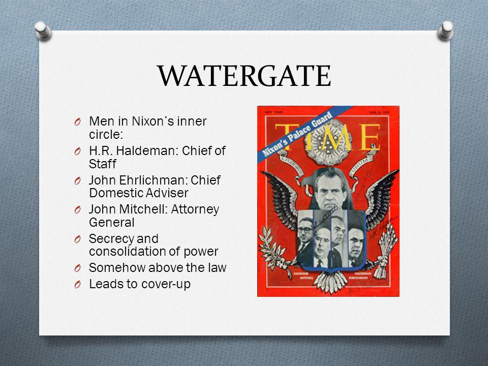 WATERGATE Men in Nixon's inner circle: H.R. Haldeman: Chief of Staff