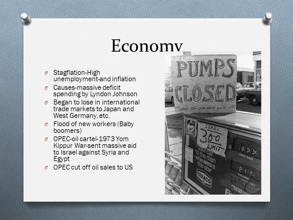 Economy Stagflation-High unemployment-and inflation