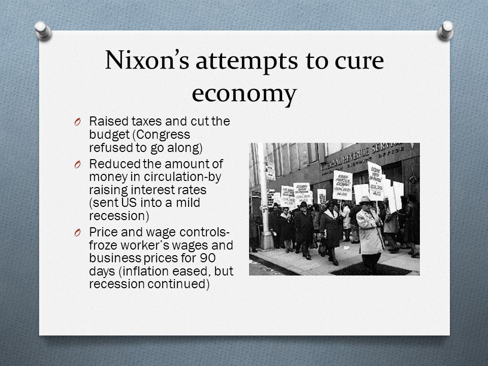 Nixon's attempts to cure economy