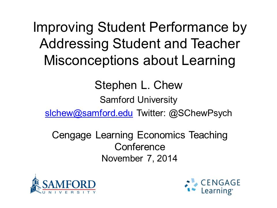 Improving Student Performance by Addressing Student and Teacher Misconceptions about Learning