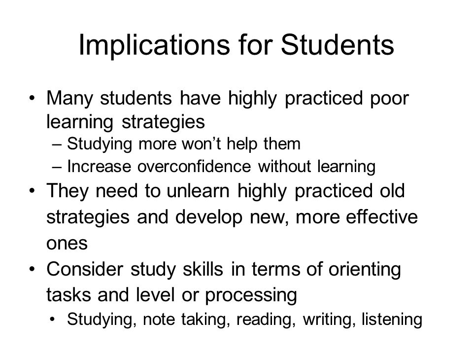 Implications for Students