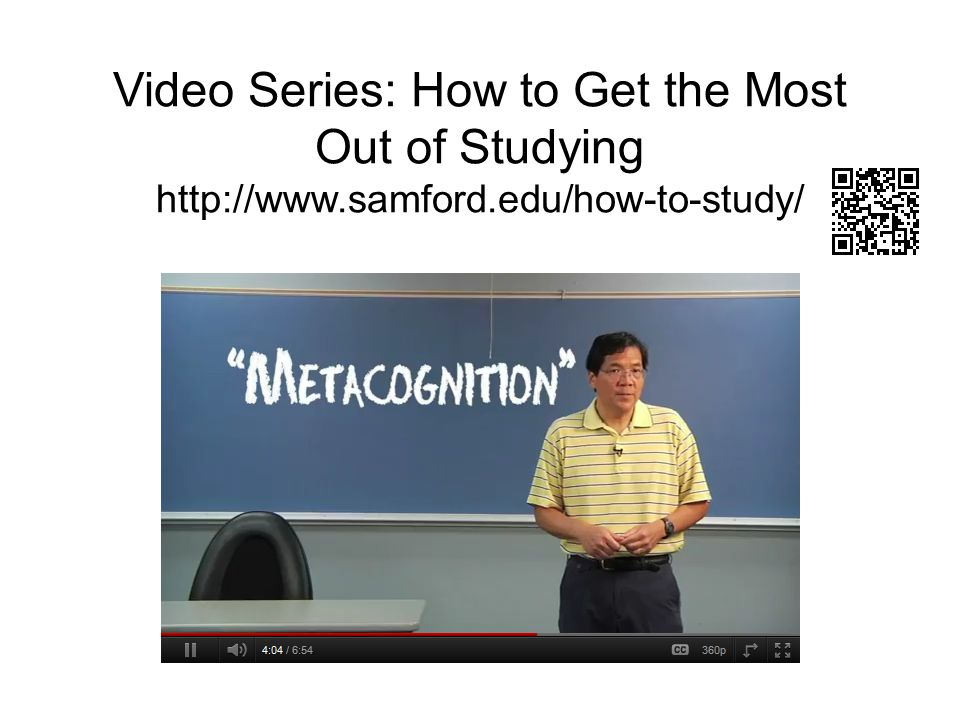 Video Series: How to Get the Most Out of Studying http://www. samford