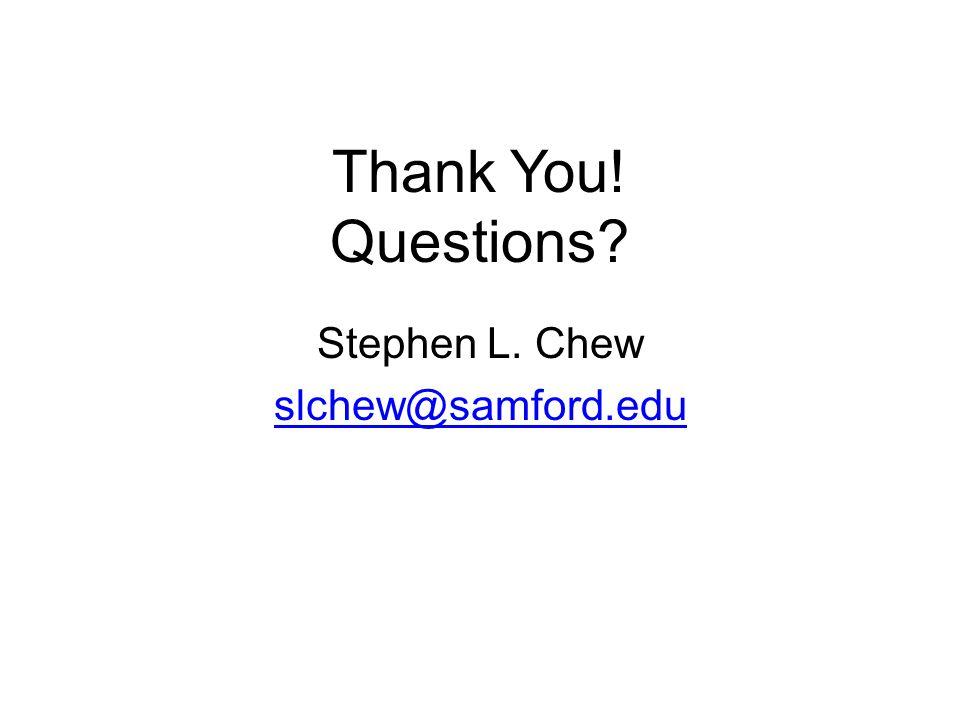 Stephen L. Chew slchew@samford.edu