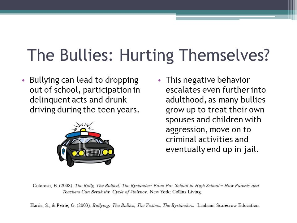 The Bullies: Hurting Themselves