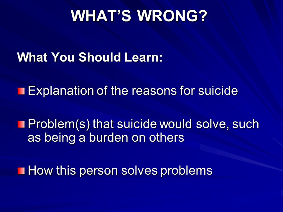 WHAT'S WRONG What You Should Learn: