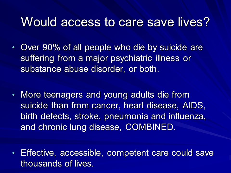 Would access to care save lives