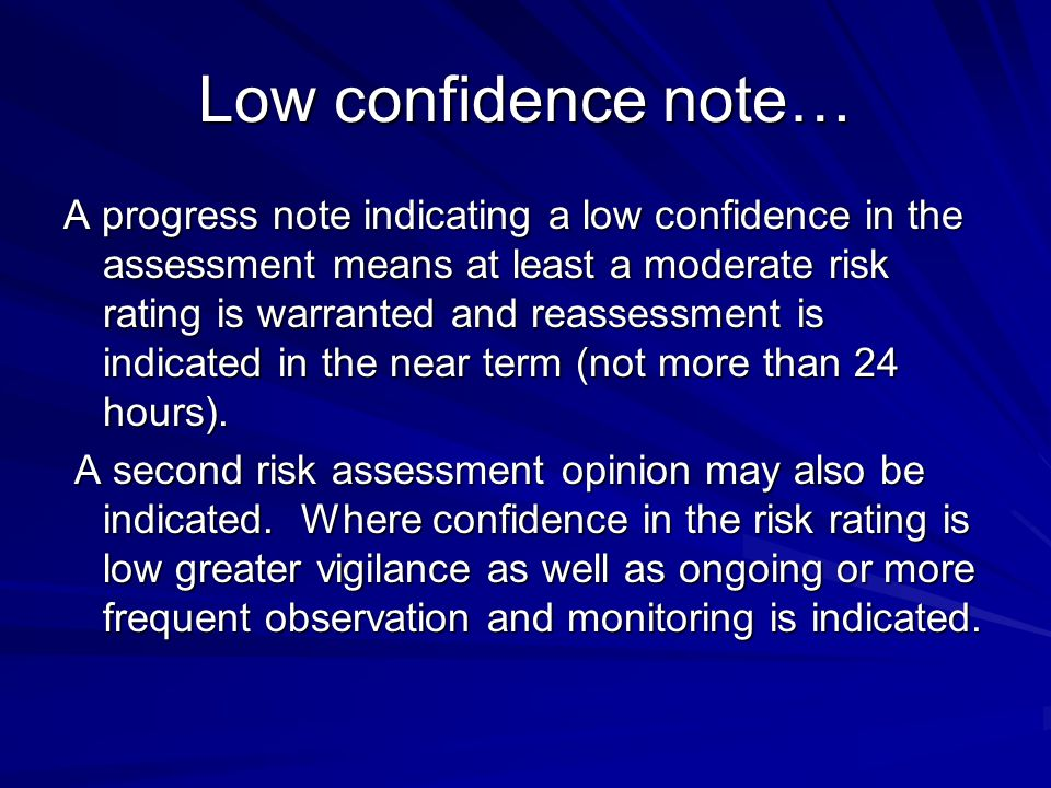Low confidence note…