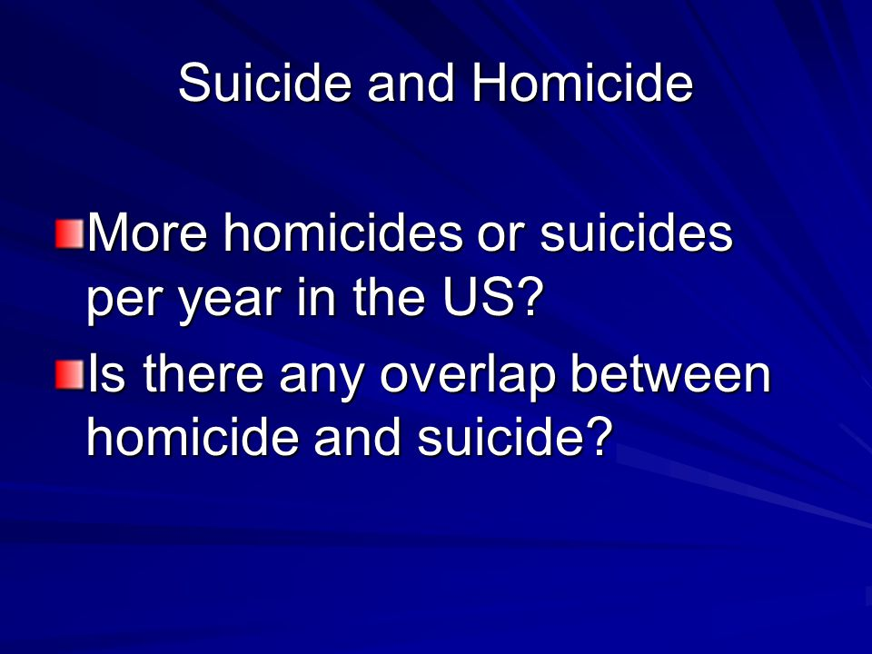 More homicides or suicides per year in the US