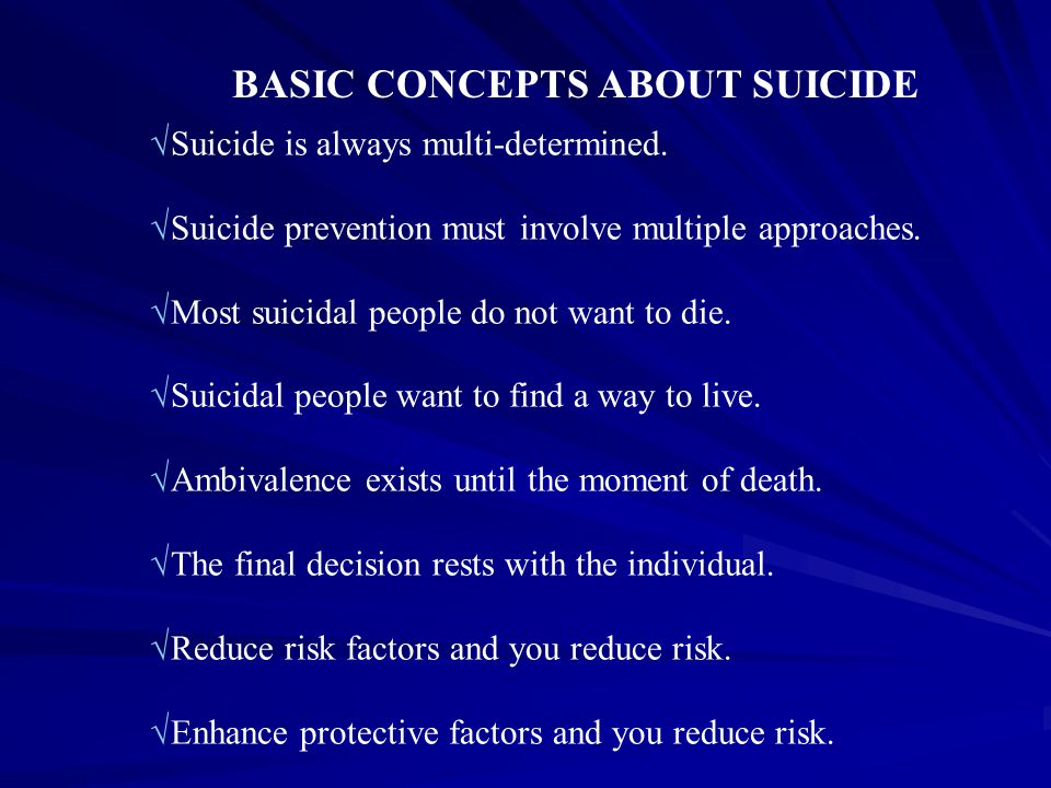 BASIC CONCEPTS ABOUT SUICIDE