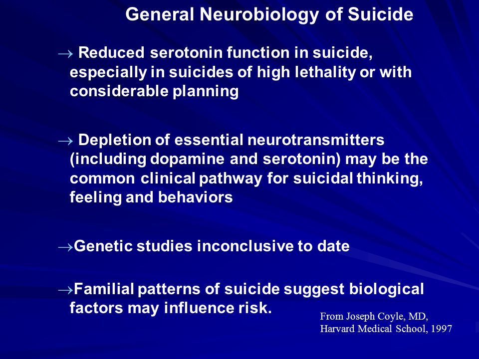 General Neurobiology of Suicide