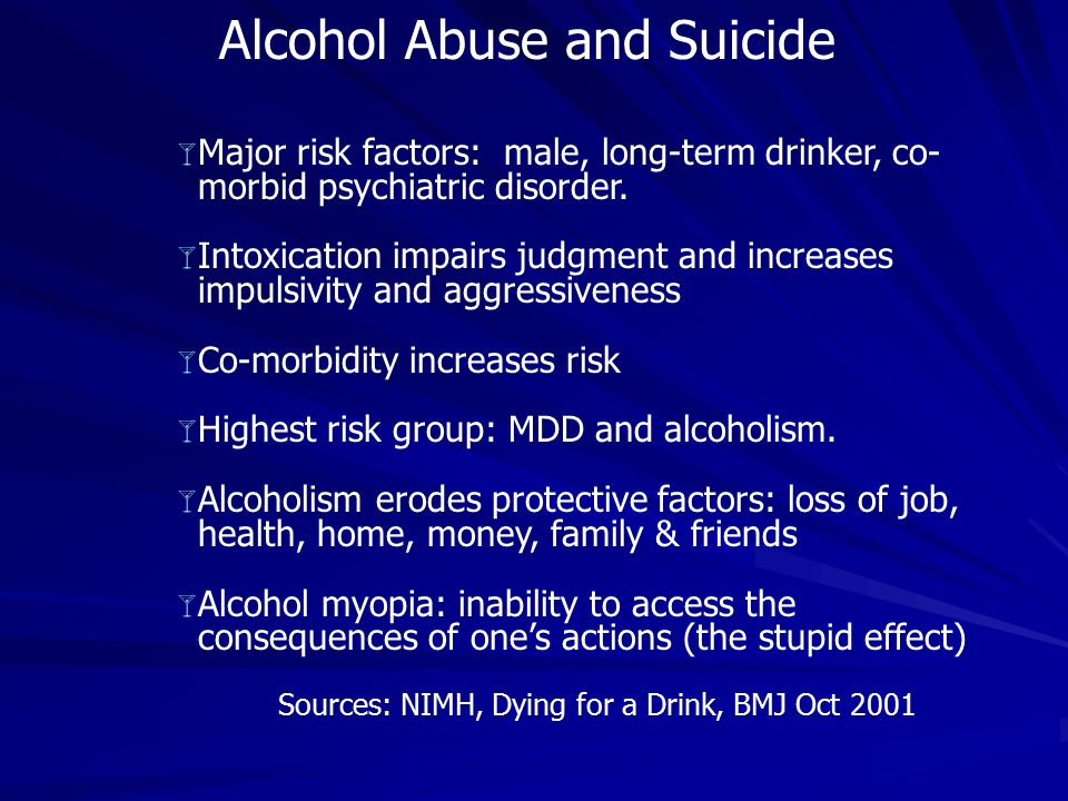 Alcohol Abuse and Suicide