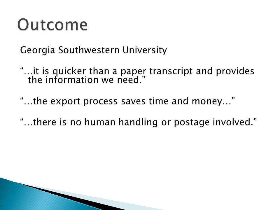 Outcome Georgia Southwestern University