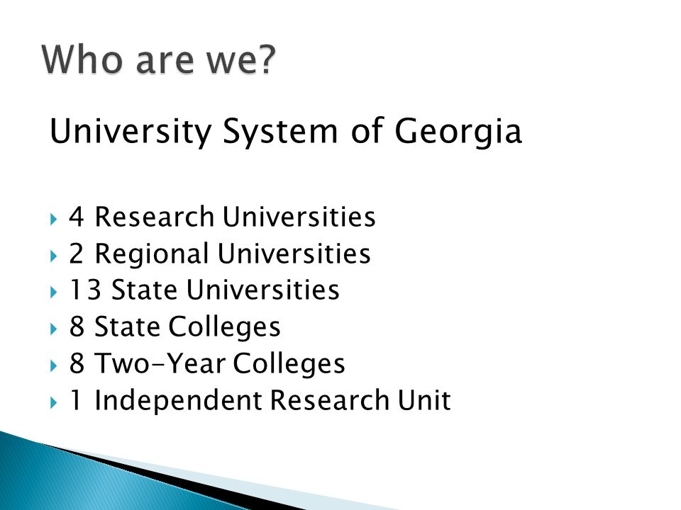 Who are we University System of Georgia 4 Research Universities