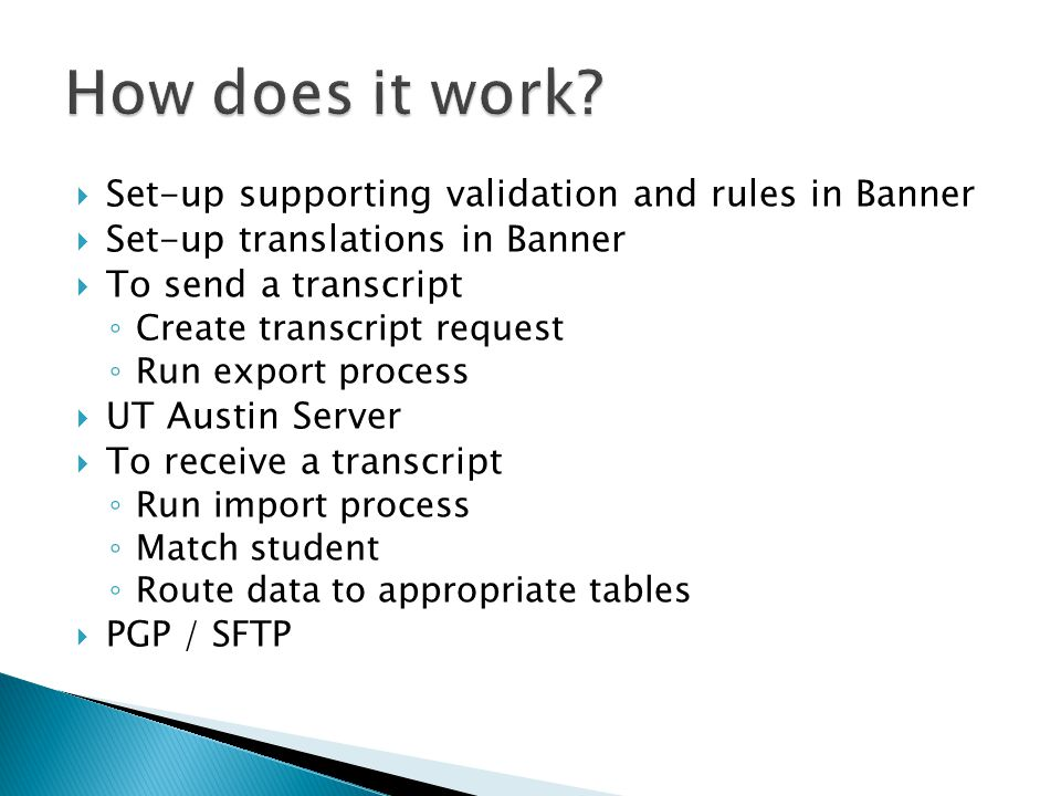 How does it work Set-up supporting validation and rules in Banner