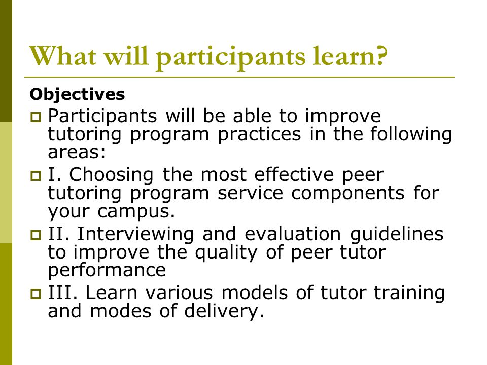 What will participants learn