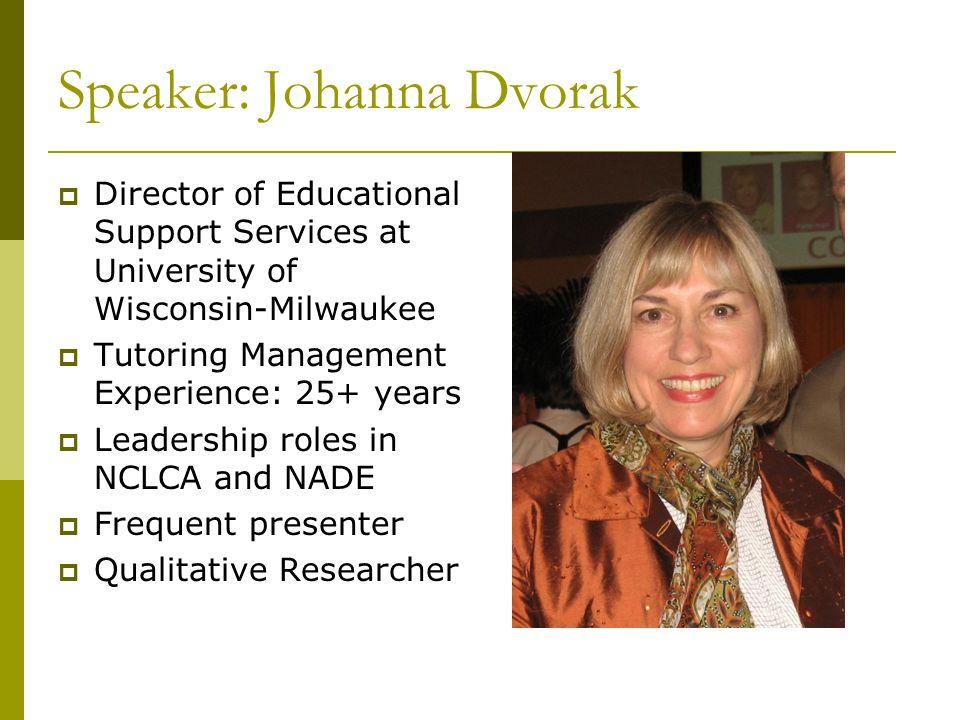 Speaker: Johanna Dvorak