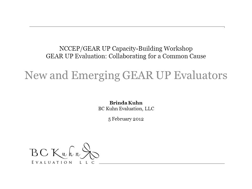New and Emerging GEAR UP Evaluators