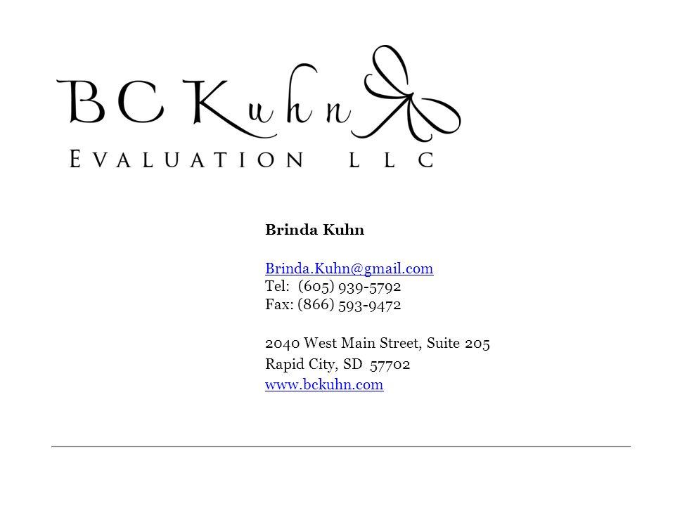 Brinda Kuhn Brinda.Kuhn@gmail.com Tel: (605) 939-5792 Fax: (866) 593-9472. 2040 West Main Street, Suite 205.