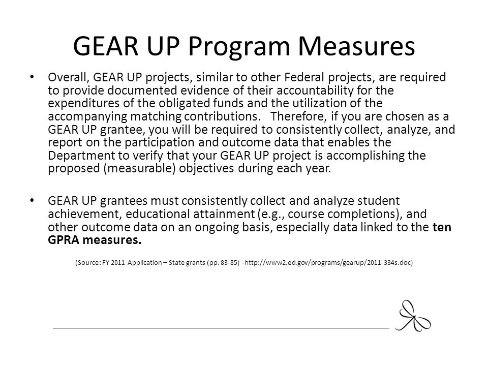 GEAR UP Program Measures