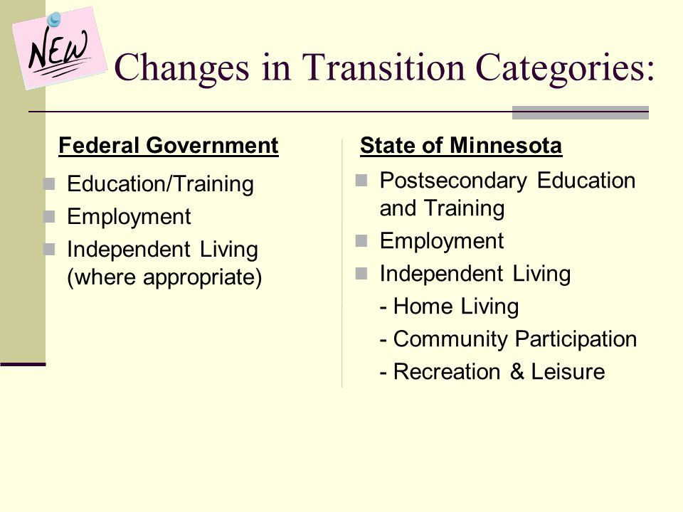 Changes in Transition Categories: