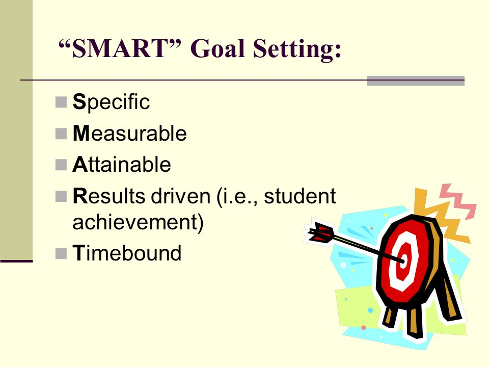 SMART Goal Setting: Specific Measurable Attainable