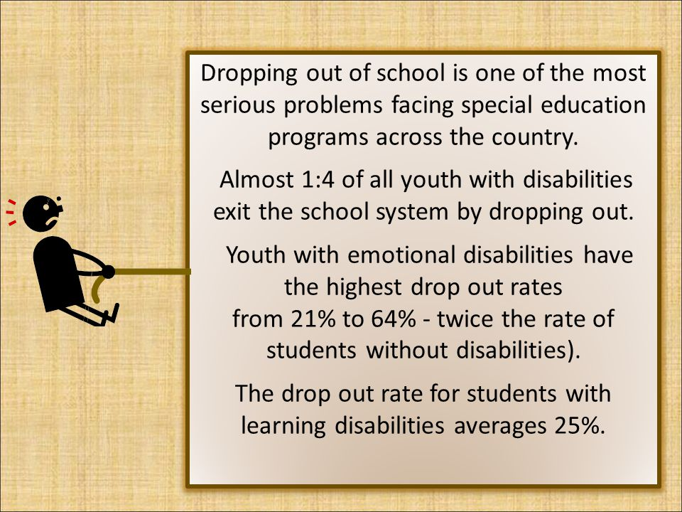 Youth with emotional disabilities have the highest drop out rates