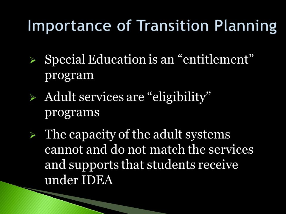 Importance of Transition Planning