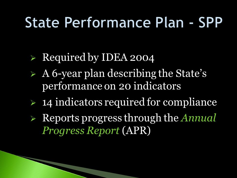 State Performance Plan - SPP