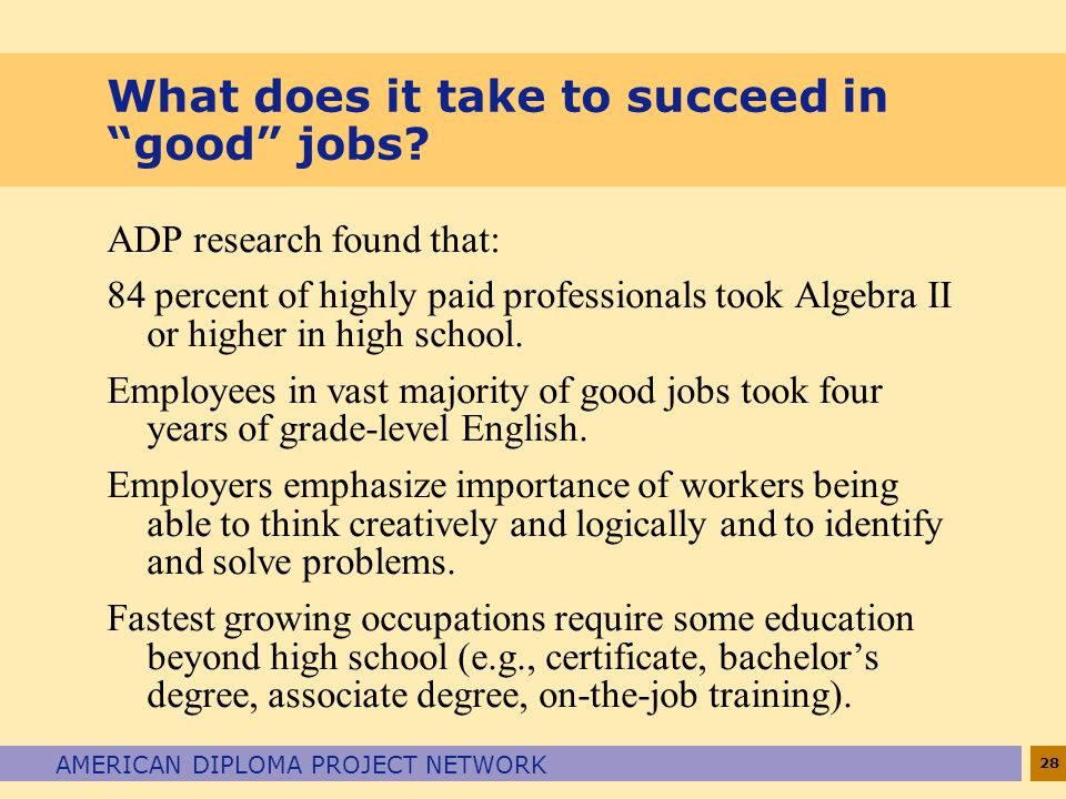 What does it take to succeed in good jobs