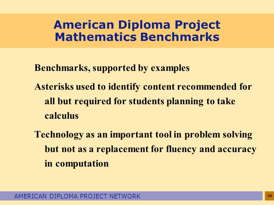 American Diploma Project Mathematics Benchmarks